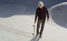 old skate boarder