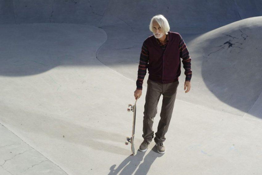 old skate boarder